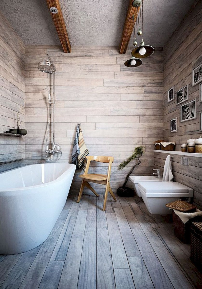 Simple And Cozy Wooden Bathroom Remodel Ideas 04