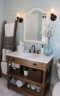 Simple And Cozy Wooden Bathroom Remodel Ideas 25