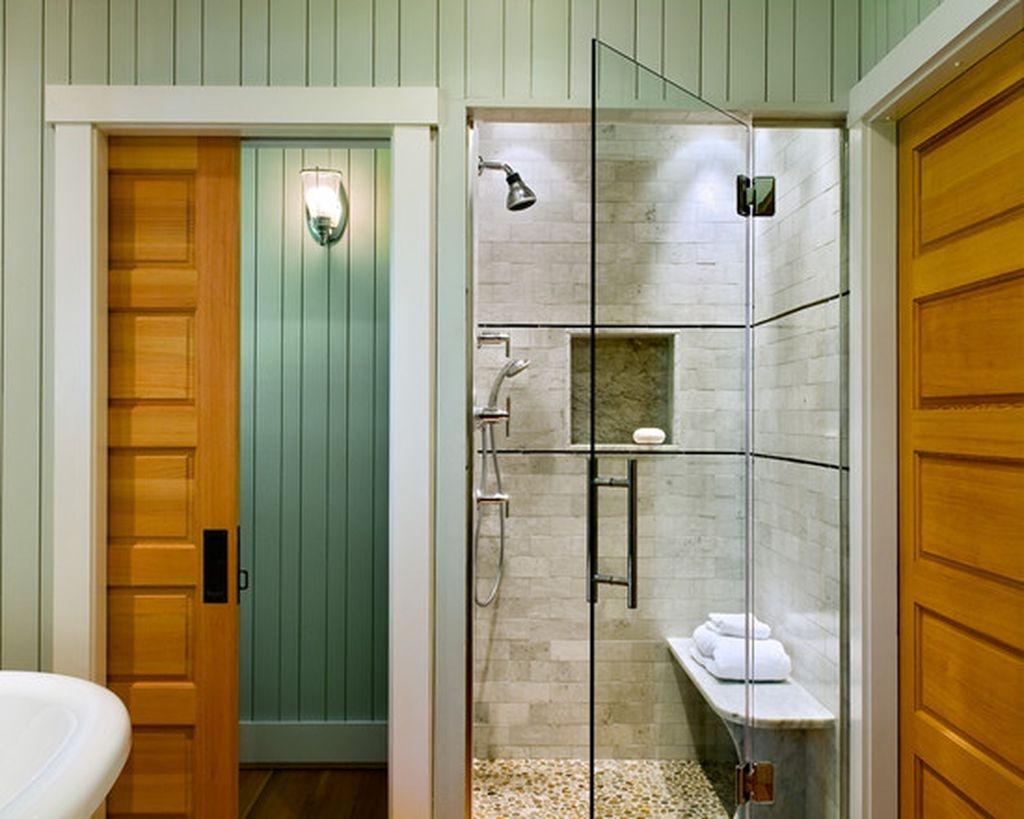 Simple And Cozy Wooden Bathroom Remodel Ideas 27