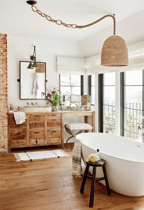 Simple And Cozy Wooden Bathroom Remodel Ideas 40