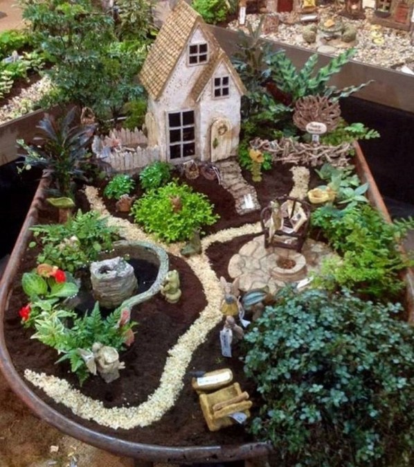 Totally Cool Magical Diy Fairy Garden Ideas 40
