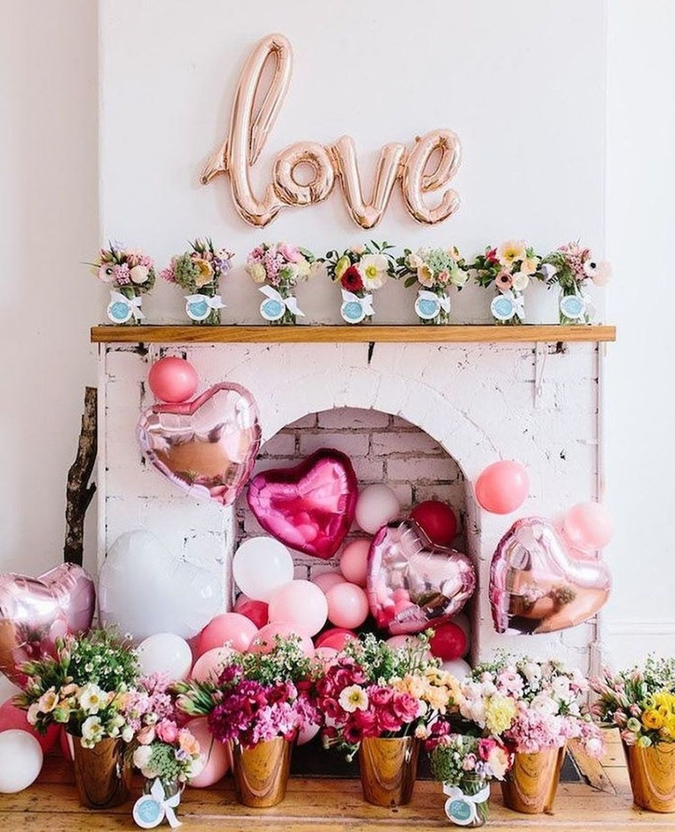 Cute Pink Valentines Day Decoration Ideas For Your Home 17
