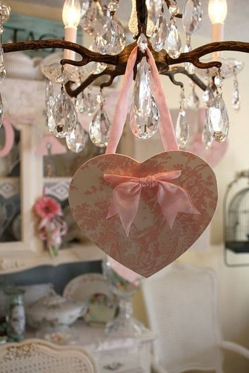 Cute Shabby Chic Valentines Decoration Ideas For Your Home 41