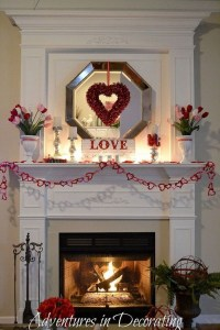 Inspiring Valentines Day Fireplace Decoration Ideas 06