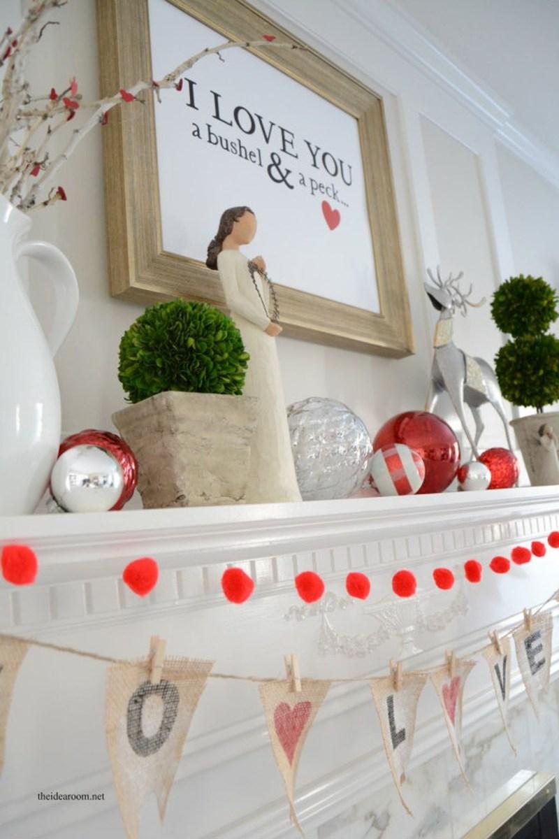 Inspiring Valentines Day Fireplace Decoration Ideas 25