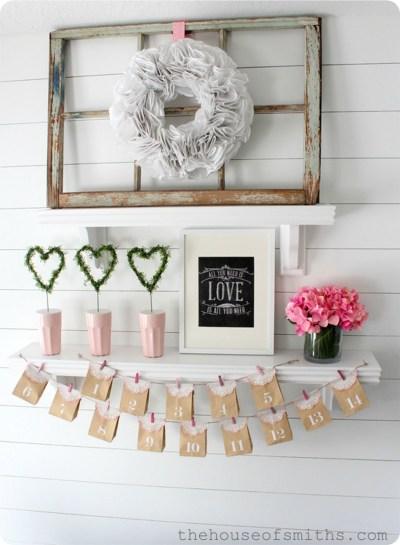 Inspiring Valentines Day Fireplace Decoration Ideas 45