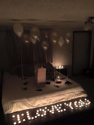 Romantic Valentines Bedroom Decoration Ideas 31