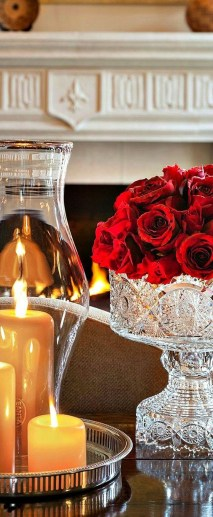 Romantic Valentines Day Dining Room Decoration Ideas 38