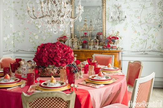 Romantic Valentines Day Dining Room Decoration Ideas 42