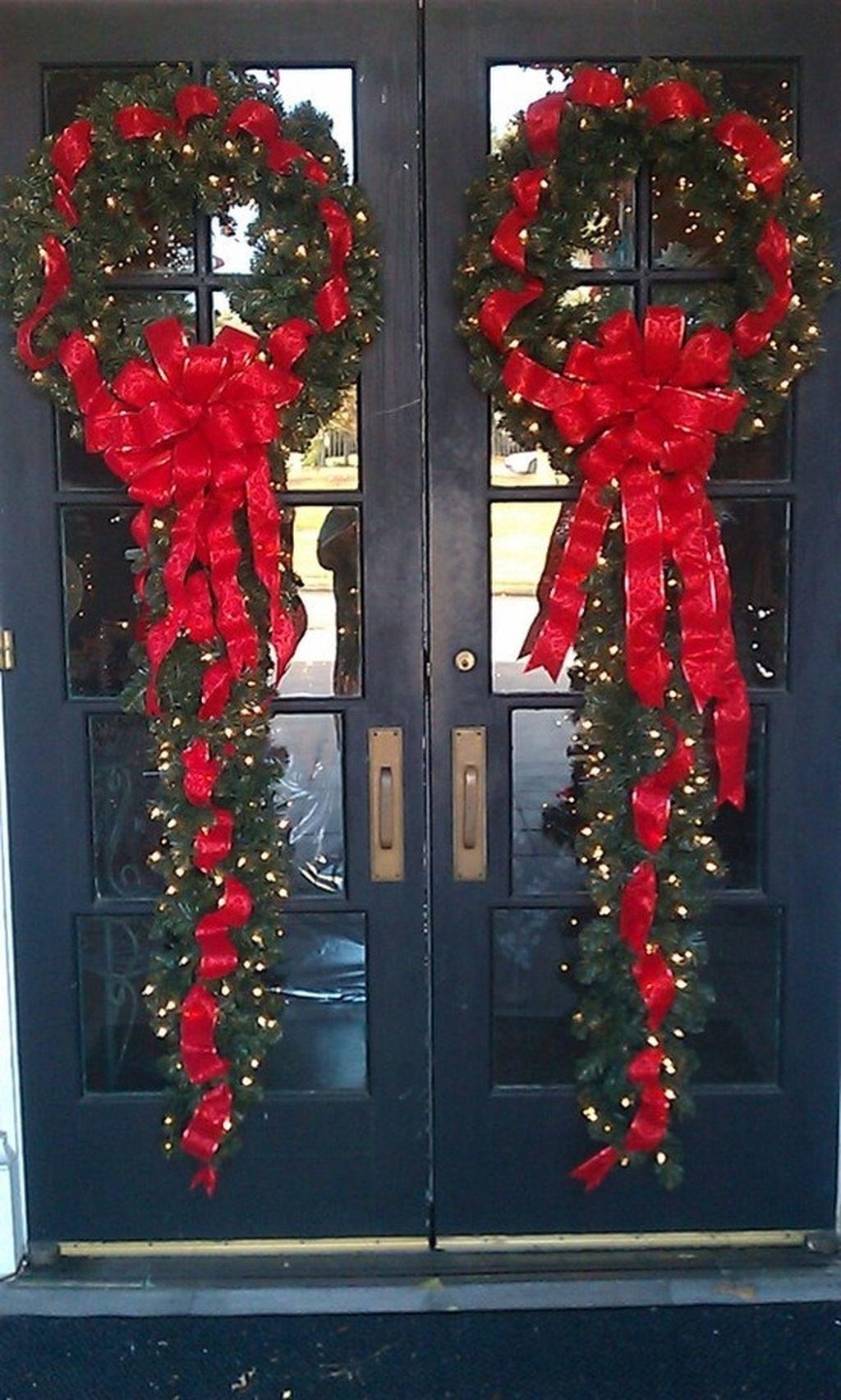 Stunning Front Door Decoration Ideas For Winter 06