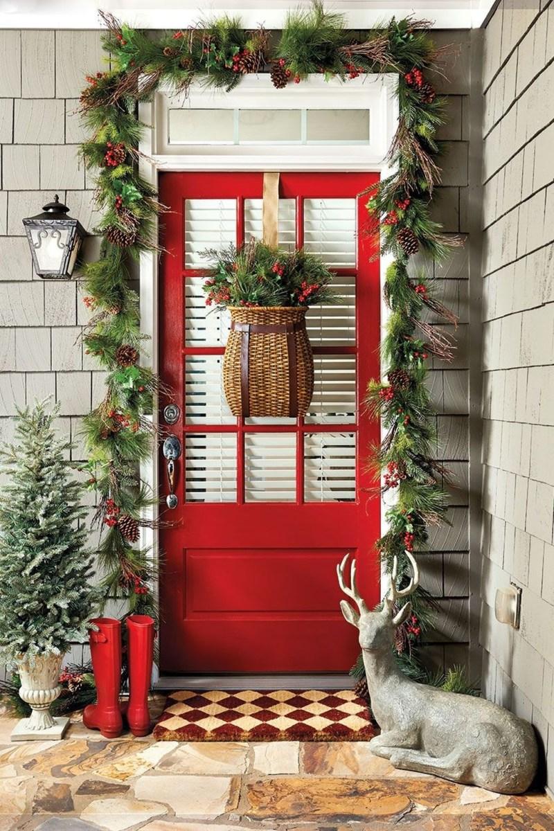 Stunning Front Door Decoration Ideas For Winter 14
