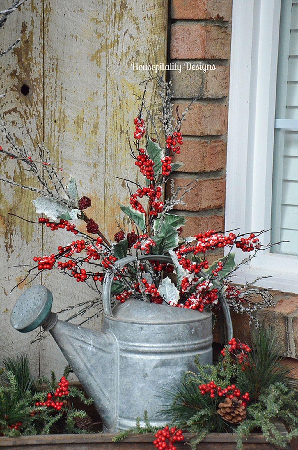 Stunning Front Door Decoration Ideas For Winter 22