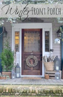 Totally Adorable Winter Porch Decoration Ideas 05