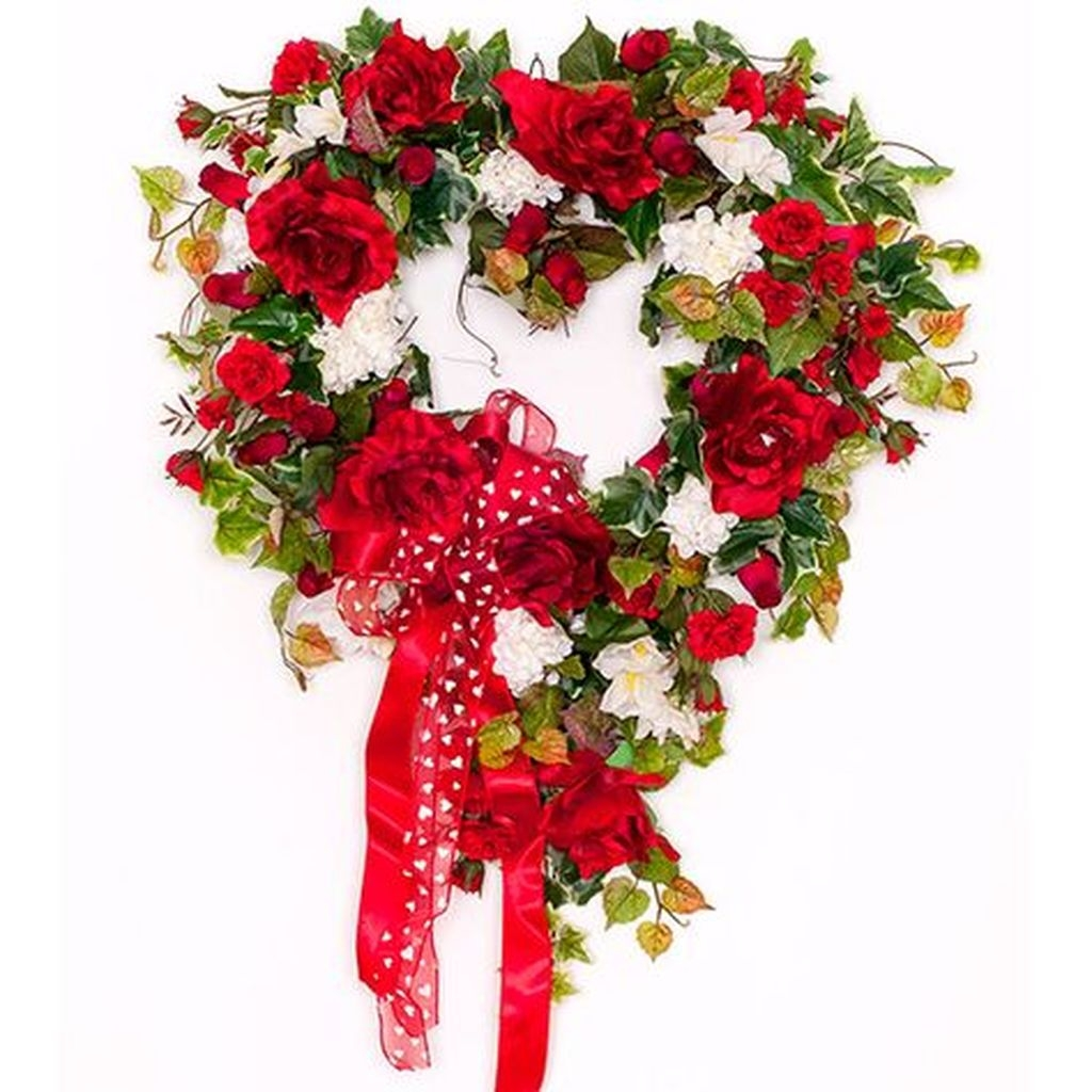 Totally Adorable Wreath Ideas For Valentines Day 14