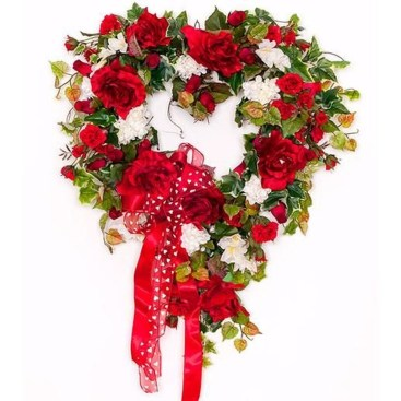 Totally Adorable Wreath Ideas For Valentines Day 18
