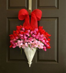 Totally Adorable Wreath Ideas For Valentines Day 31