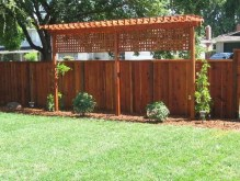 Adorable Wooden Privacy Fence Patio Backyard Landscaping Ideas 14