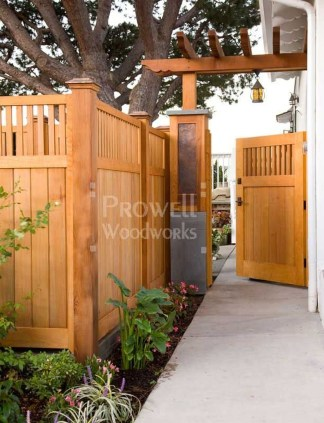 Adorable Wooden Privacy Fence Patio Backyard Landscaping Ideas 19