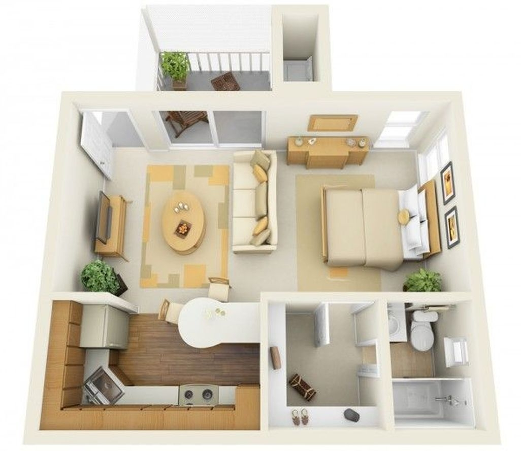 Cozy Apartment Studio Decoration Ideas 37