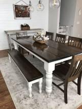Inspiring Rustic Farmhouse Dining Room Design Ideas 06