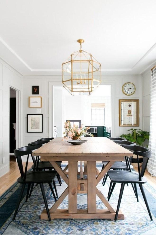 Inspiring Rustic Farmhouse Dining Room Design Ideas 21
