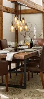 Inspiring Rustic Farmhouse Dining Room Design Ideas 27