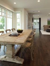 Inspiring Rustic Farmhouse Dining Room Design Ideas 35