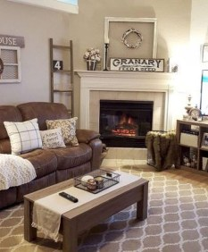Amazing Rustic Farmhouse Living Room Decoration Ideas 04
