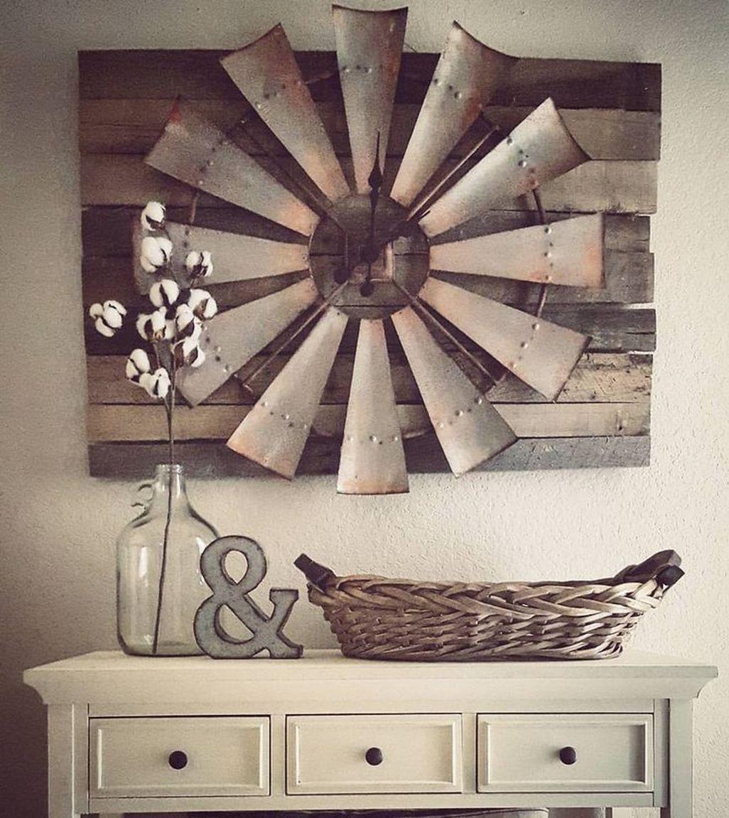 Amazing Rustic Farmhouse Living Room Decoration Ideas 16