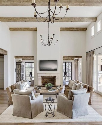 Amazing Rustic Farmhouse Living Room Decoration Ideas 17