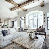 Amazing Rustic Farmhouse Living Room Decoration Ideas 36