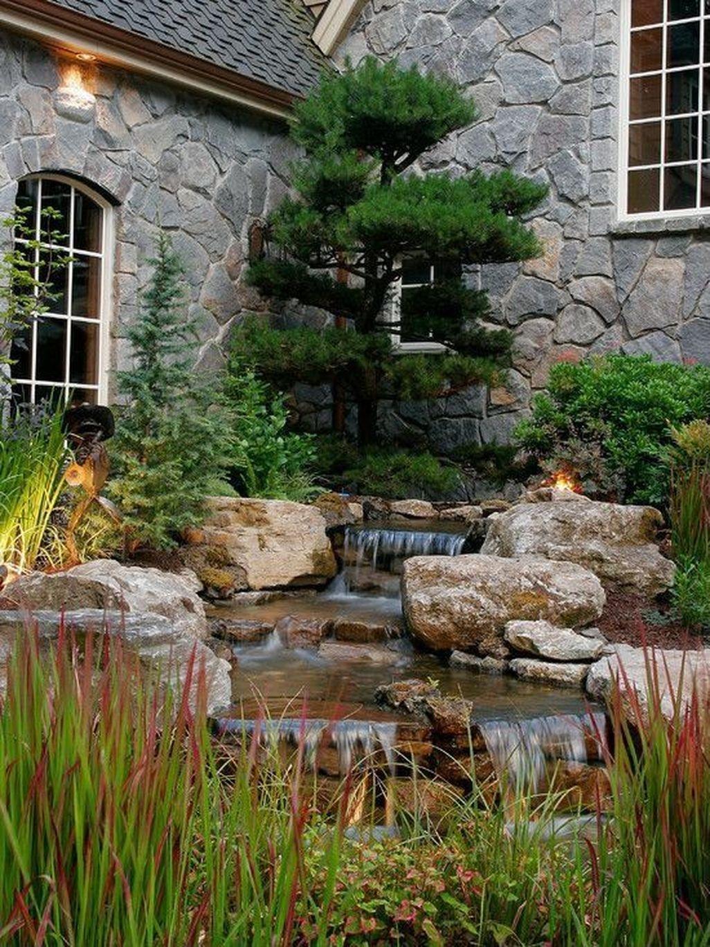 Beautiful Front Yard Rock Garden Design Ideas 21