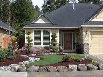Beautiful Front Yard Rock Garden Design Ideas 27