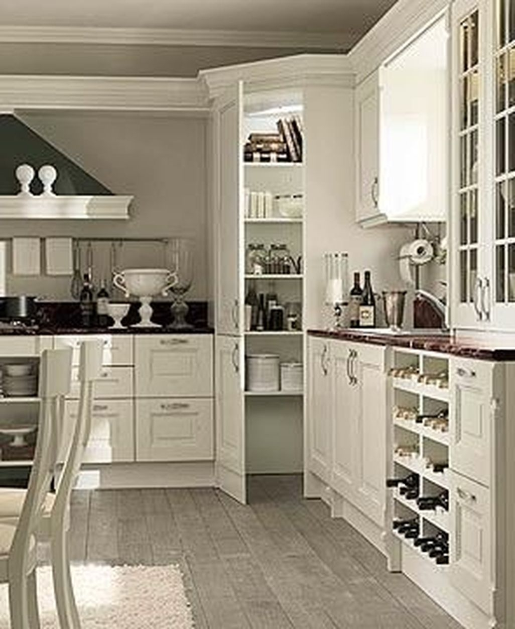 Best White Kitchen Cabinet Design Ideas 29