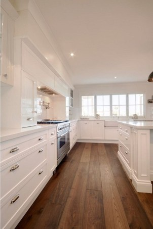 Best White Kitchen Cabinet Design Ideas 42
