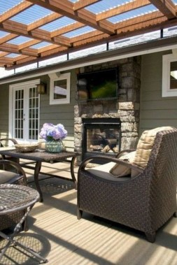 Cozy Backyard Patio Deck Design Decoration Ideas 06