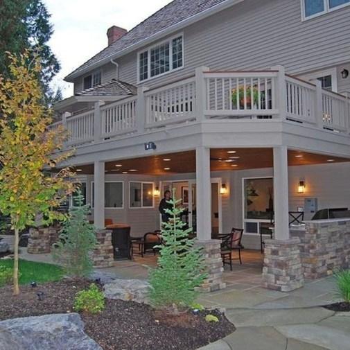 Cozy Backyard Patio Deck Design Decoration Ideas 09
