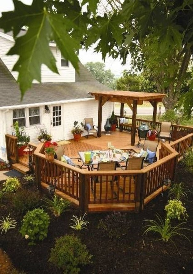 Cozy Backyard Patio Deck Design Decoration Ideas 11