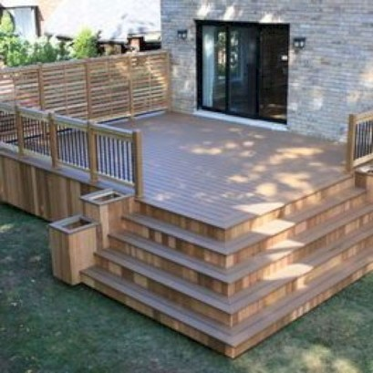 Cozy Backyard Patio Deck Design Decoration Ideas 19