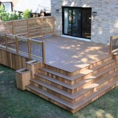 Cozy Backyard Patio Deck Design Decoration Ideas 19