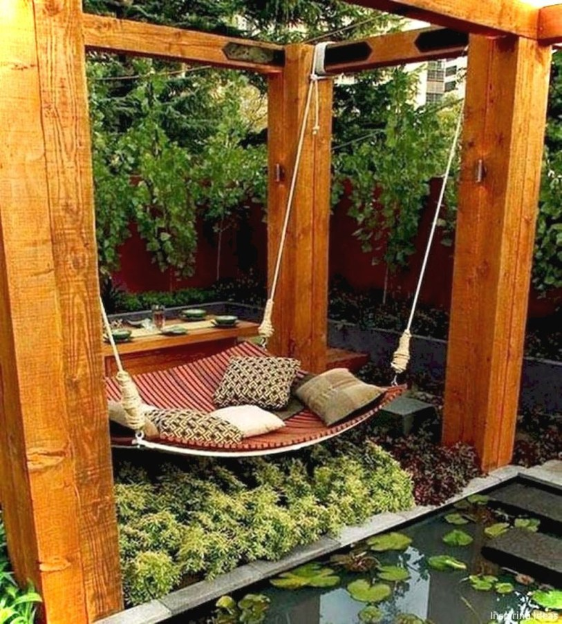 Cozy Backyard Patio Deck Design Decoration Ideas 20