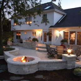 Cozy Backyard Patio Deck Design Decoration Ideas 32
