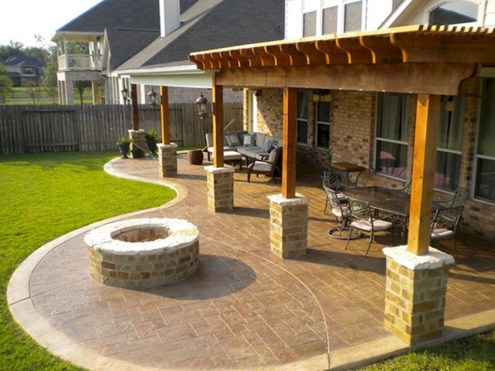 Cozy Backyard Patio Deck Design Decoration Ideas 37