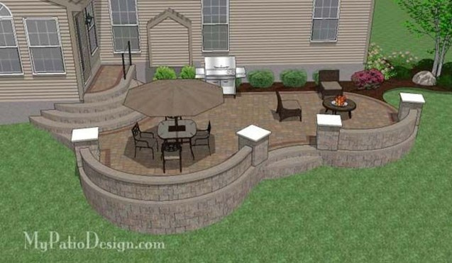 Cozy Backyard Patio Deck Design Decoration Ideas 38