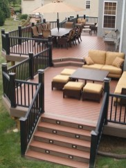 Cozy Backyard Patio Deck Design Decoration Ideas 39