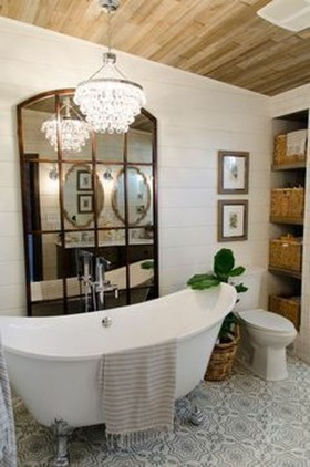 Fresh Rustic Farmhouse Master Bathroom Remodel Ideas 35