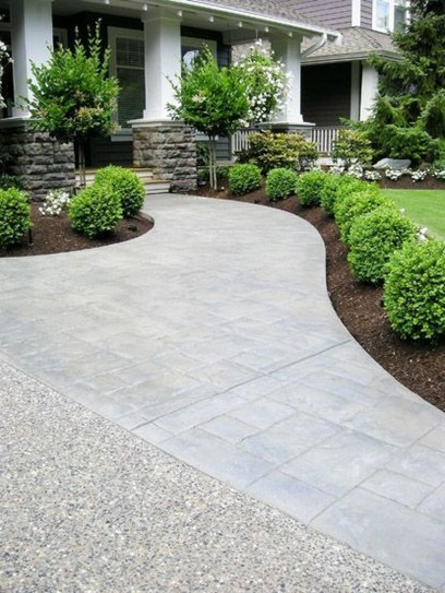 Stunning Front Yard Walkway Landscaping Design Ideas 23