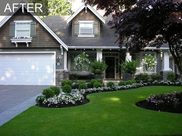 Stunning Front Yard Walkway Landscaping Design Ideas 26