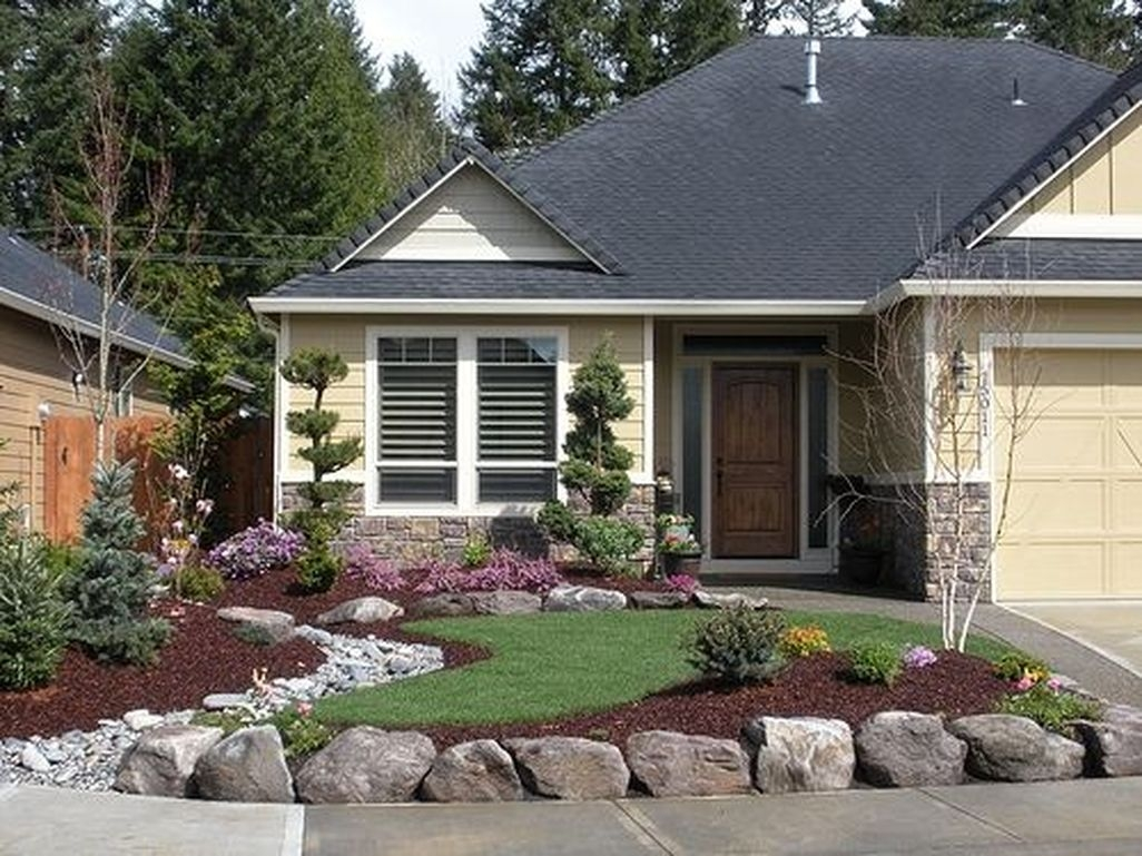 Stunning Front Yard Walkway Landscaping Design Ideas 31