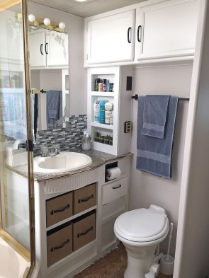 Totally Inspiring Rv Bathroom Remodel Organization Ideas 15